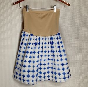Gap Maternity Mini Skirt White Blue XS